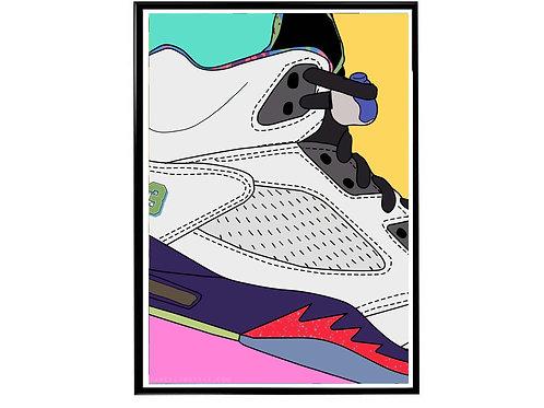 Fresh Prince X Air Jordan Close Sneaker Poster, Hypebeast Poster Sneaker Art