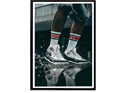 Jays in the Rain Hypebeast Sneaker Poster Printable