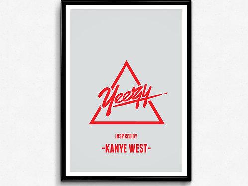 Yeezy x Kanye West Poster, Hypebeast Poster Art, Yeezus TLOP Wall Decor