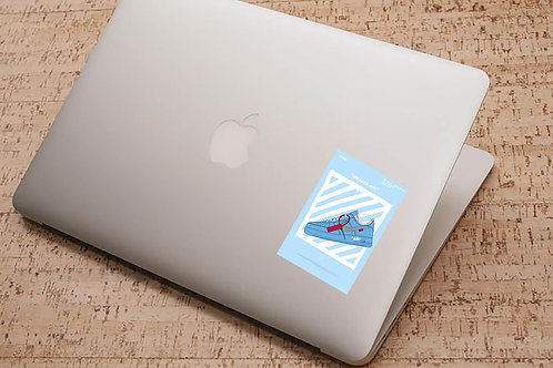 Off White x AF1 Sneaker Sticker, Hypebeast Stickers, Sneaker Decal, Stic