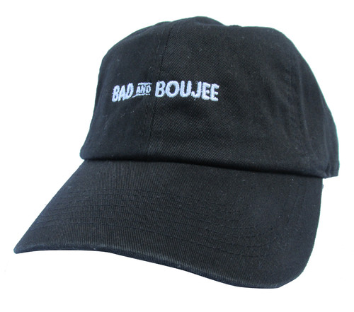 5cac74e4 Bad and Boujee Black Meme Twill Cotton Migos Lil Uzi Vert Low Profile Dad  Hat