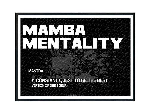 Mamba Mentality Motivational Poster, Hypebeast Poster