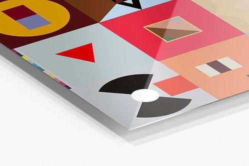 Kanye West Minimal SQ Album History  Metal Poster, Rap Music Aluminum