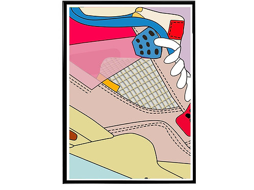 Union LA X Air Jordan Pk Close Sneaker Poster, Hypebeast Poster Sneaker Art
