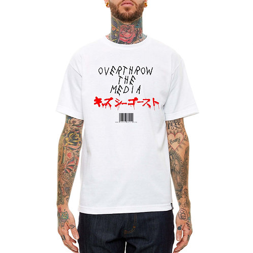 Overthrow The Media T Shirt, Streetwear Hypebeast T Shirt