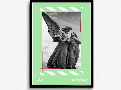 Off White Inspired Art Angel Poster, Hypebeast Poster Print, Pop Culture Art