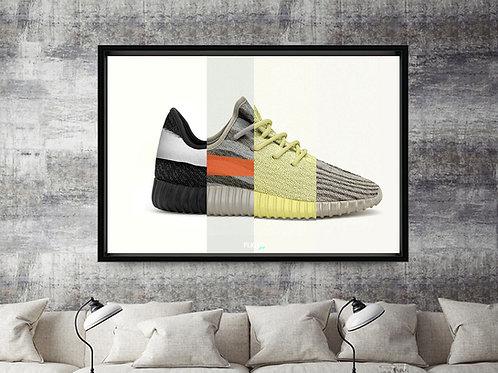Yeezy Boost 350 Mashup Custom Kicks Sneaker 12x18 Poster Art