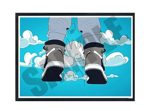 Travis Scott Air Jordan 1 Sneaker Sky Poster