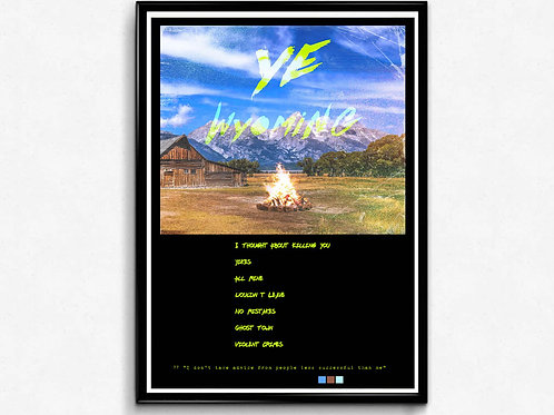 Kanye West Ye Album Track Poster Hypebeast Posters Music Poster