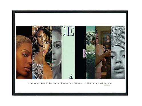 Beyonce Album History Poster, Hypebeast Poster, Kicks Pos