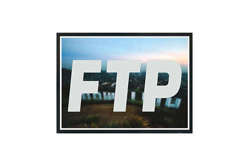 FTP Hollywood Poster Art, Hypebeast Poster Print Pop Culture Art