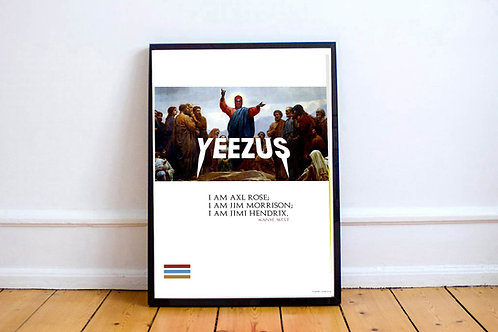 Kanye West Yeezus Poster, Hypebeast Posters Prints, Yeezy Poster
