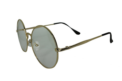 The Notorious Gold Round Lens Streetwear High Fashion Sunglasses Shades Eyewe