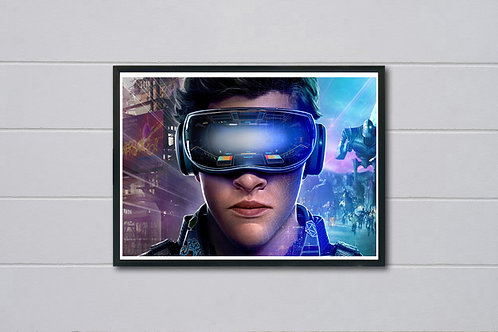 Ready Player One Style Movie Poster, Video Game Poster, Pop Culture Poster Art