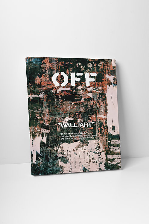 Off White Grunge Canvas Art Pop Culture Canvas Art Hypebeast Art