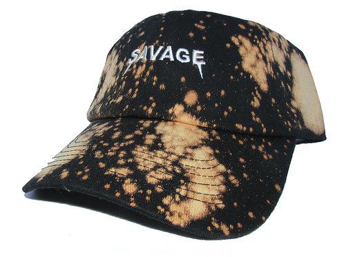 Savage Yeezus Font Acid Wash Bk. Emoji Meme Yeezy Twill Cotton Dad Hat
