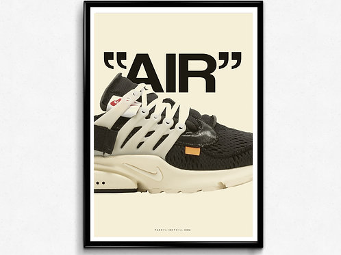 Off White X Nike Air Presto Poster, Modern Wall Art, Hypebeast Sneaker Poster