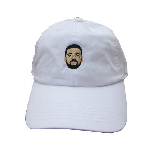 a58640d88375c Crying Drake White Emoji Meme Unstructured Twill Cotton Low Profile 6 God  Yeezus Dad Hat One Size Fits Most Ships super fast via 2-3 day mail We know  that ...