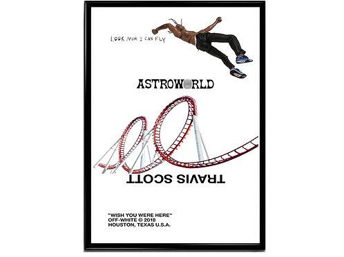 Travis Scott Astroworld Alt Poster, Hypebeast Poster, Music Poster Hip Hop Art