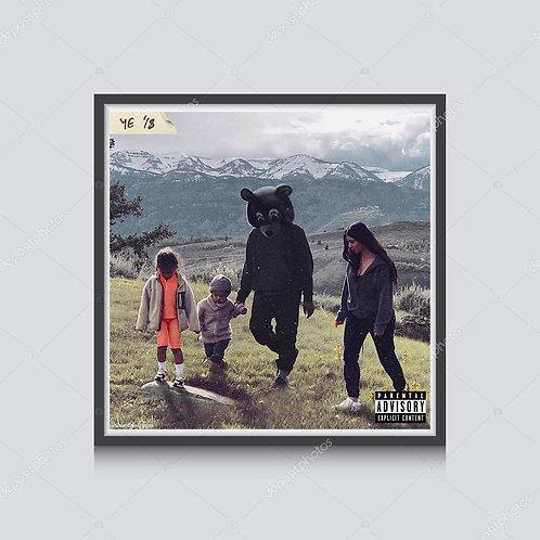 Kanye West Ye 18'Alt Art Poster, Hypebeast Poster Print, Wyoming Music Poster