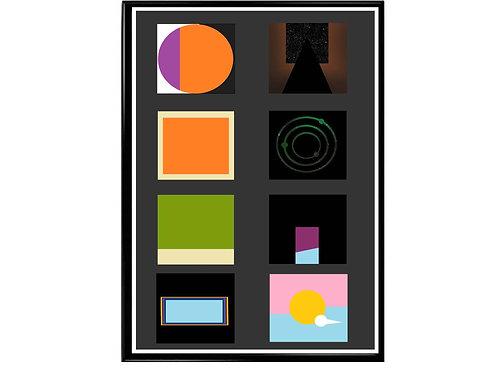 Kid Cudi Minimal Album History Poster, Hypebeast Poster, Kicks Pos