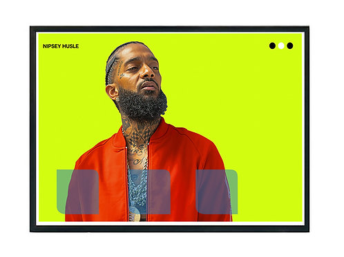 Oil Paint Nipsey Hussle Poster, Hypebeast Poster, Music Hip Hop Poster