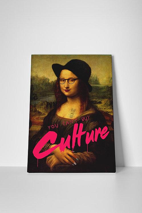 Hipster Mona Graffiti Canvas Art, Hypebeast Canvas Print, Pop Culture Poster Art