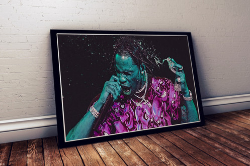 20fbb2c4d2a4 Custom Travis Scott Astroworld Alt Poster, Hypebeast Poster, Music Poster  Hip Hop Art, Mixed Media Wall Decor