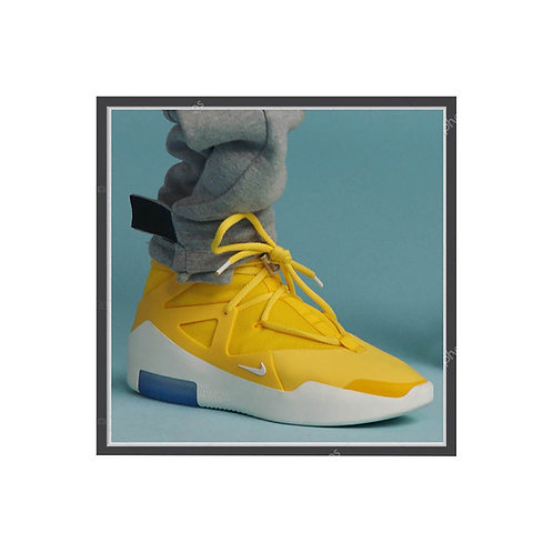 Fear of God x Nike Yellow Poster, Hypebeast Poster Pop Culture Sneaker Wall Art
