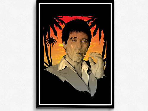 Scarface Style Movie Poster, Hypebeast Poster Print, Pop Culture Poster Art
