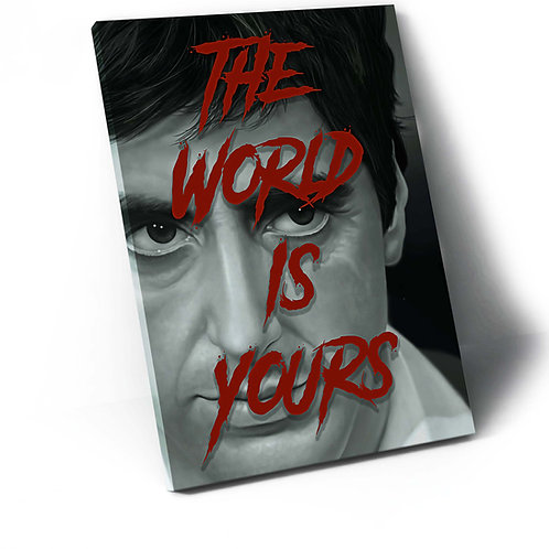 Scarface The World Is Yours Canvas Art, Hypebeast Canvas Print