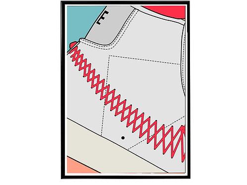Nike Blazer Zig Zag Close Sneaker Poster, Hypebeast Poster
