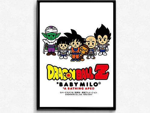 Bathing DBZ Inspired Poster, Hypebeast Poster Print, Pop Culture Poster