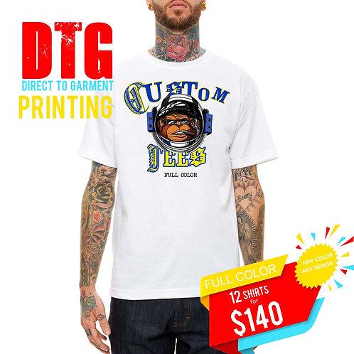 Custom DTG Pirnted T Shirts Bundle Pack, Streetwear Hypebeast T Shirt