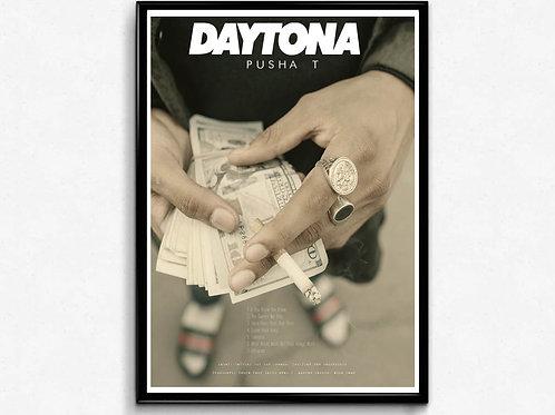 Pusha T Daytona Poster, Hypebeast Posters Prints, Music Poster