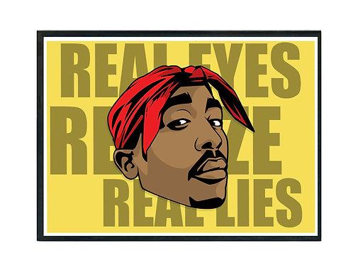 Tupac Real Eyes Hip Hop Poster Printable