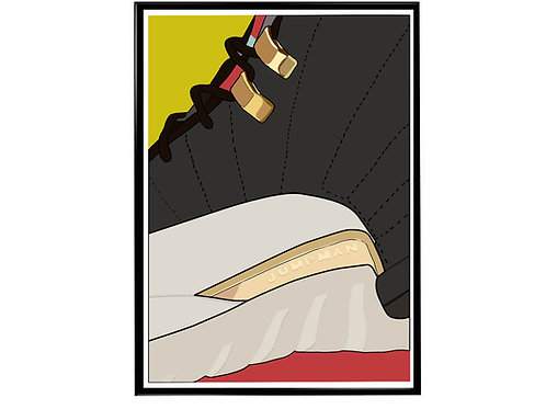 Jordan CNY Sneaker Poster, Hypebeast Poster, Modern Pop Art