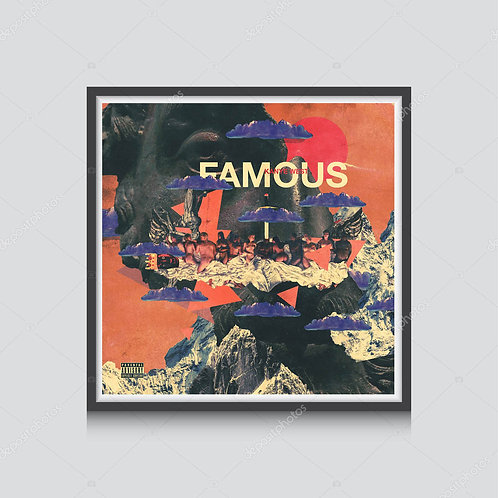 Kanye West Famous Abstract Cover Poster, Hypebeast Prints, Ye Album