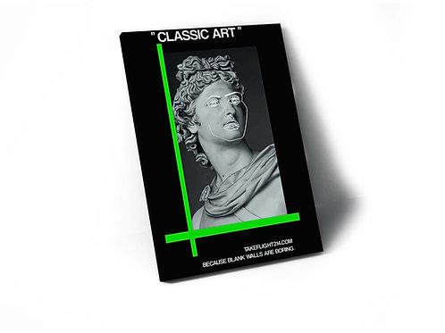 Classic Art Statue Green Canvas Print, Hypebeast Canvas Art