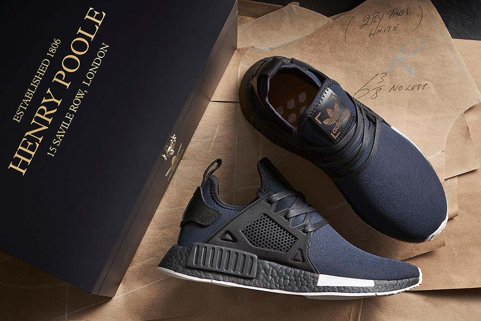 size? x Henry Poole x adidas Originals NMD XR1 and NMD R2