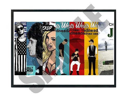 Chris Webby Album History Poster, Hypebeast Music Poster