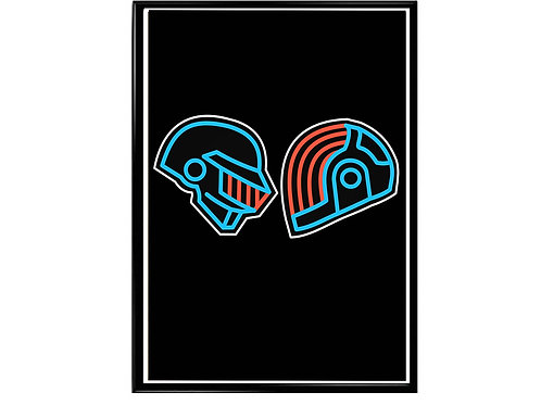 Daft Punk Dual Mask Pop Music Poster Printable