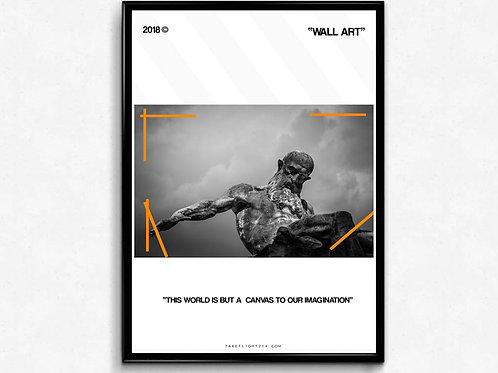 Off White Inspired The Statue Poster, Hypebeast Poster Print, Pop Culture Art