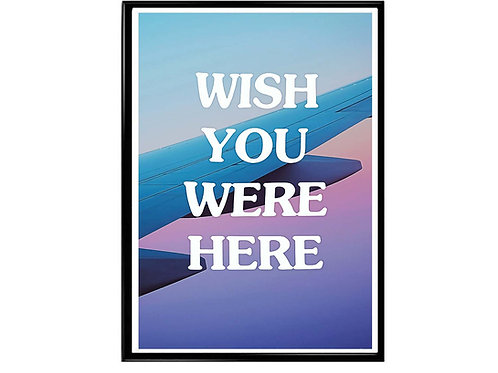 Wish You Were Here Travis Scott Poster, Hypebeast Poster, Music Poster