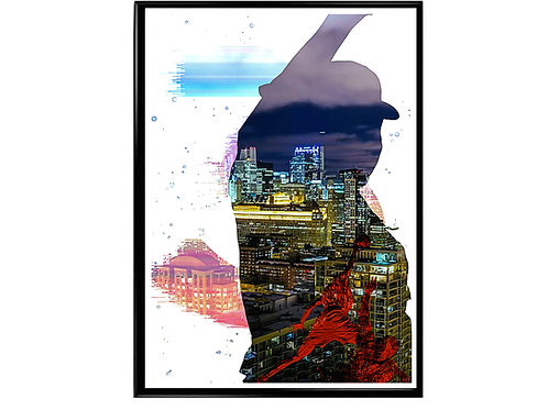Chance the Rapper Abstract Poster, Hypebeast Poster, Kicks Pos