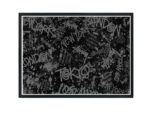 Stussy Subway Graffiti Fan Art Canvas Art, Hypebeast Canvas Print, Pop Culture