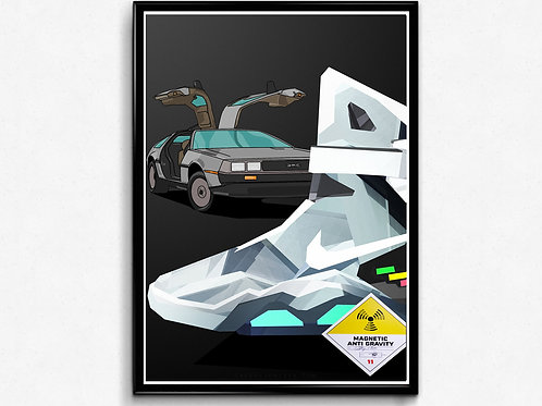 Air Mag Poly Illustration Poster, Sneaker Poster Art, Hypebeast Posters