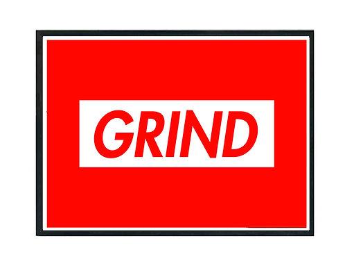 Grind Red Box Logo Poster, Hypebeast Poster Kicks Poster