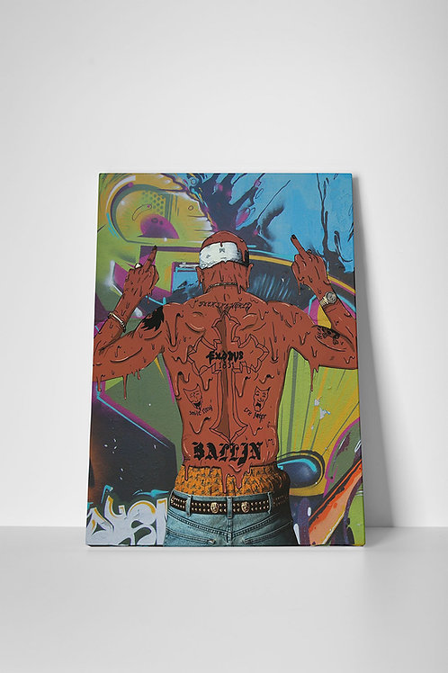 Tupac Graffiti Canvas Art, Pop Culture Canvas Art Print, Hypebeast Hip Hop Art