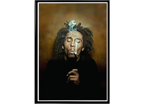 Bob Marley Oil Paint Style Poster, Music Poster,Rasta Poster, Smokers Poster